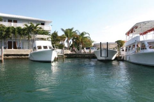 Flamingo Bay Hotel and Marina docks
