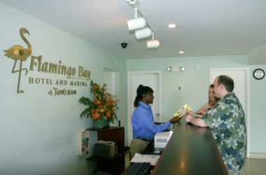 Flamingo Bay Hotel and Marina front desk