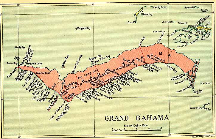 Grand Bahama map